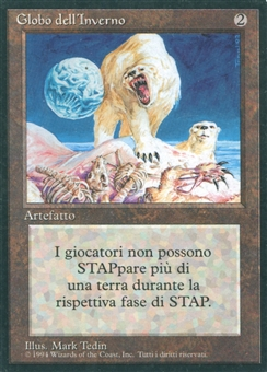 Magic the Gathering 4th Ed Single FBB Winter Orb ITALIAN - SLIGHT PLAY (SP)