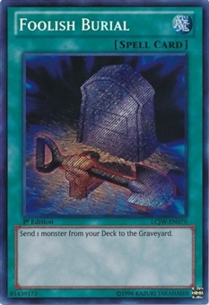 Yu-Gi-Oh Legendary Collection 4 1st Edition Single Foolish Burial Secret Rare (NM)