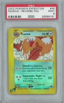 Pokemon Expedition Fearow 45/165 Reverse Foil PSA 9