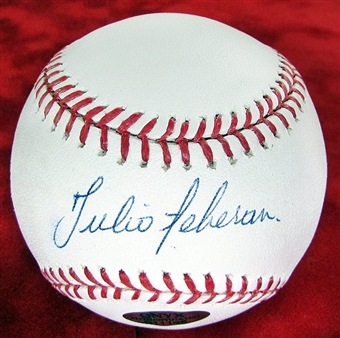 Julio Teheran Autographed Official Major League Baseball Onyx COA