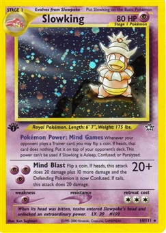 Pokemon Neo Genesis 1st Edition Single Slowking 14/111 - NEAR MINT (NM)