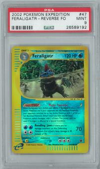 Pokemon Expedition Feraligatr 47/165 Reverse Foil PSA 9