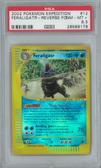 Pokemon Expedition Feraligatr 12/165 Reverse Foil PSA 8.5