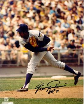 Fergie Jenkins Autographed Chicago Cubs 8x10 Baseball Photo