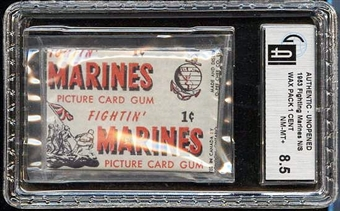 Fightin' Marines 1 Cent Wax Pack GAI 8.5 (NM-MT+)