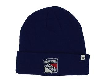 New York Rangers '47 Brand Royal Blue Raised Cuff Knit Winter Hat (Adult One Size)