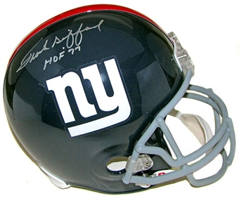 Frank Gifford Autographed New York Giants Full Size Replica Helmet