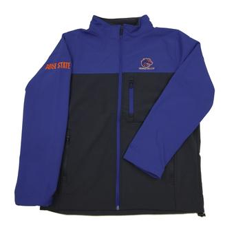 Boise State Broncos Colosseum Blue & Grey Yukon II Full Softshell Zip Jacket (Adult L)