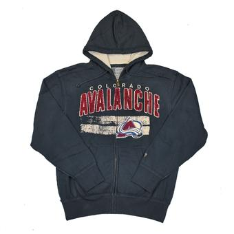 Colorado Avalanche Old Time Hockey Sumner Navy Full Zip Hoodie (Adult M)
