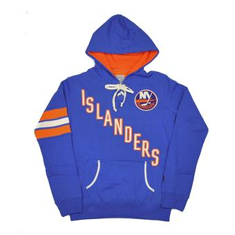 New York Islanders Old Time Hockey Blue Nadia Fleece Hoodie (Womens L)