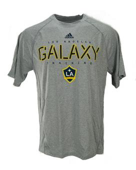 Los Angeles Galaxy Adidas Gray Climalite Performance Tee Shirt (Adult S)
