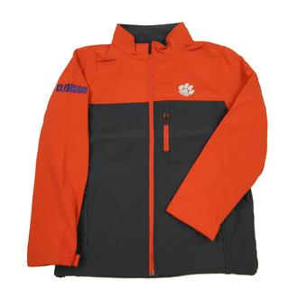 Clemson Tigers Colosseum Orange & Grey Yukon II Softshell Full Zip Jacket (Adult L)
