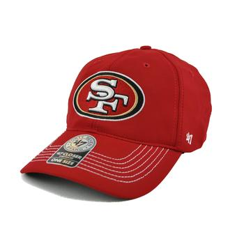 San Francisco 49ers '47 Brand Red Game Time 47 Closer Stretch Fit Hat (Adult One Size)