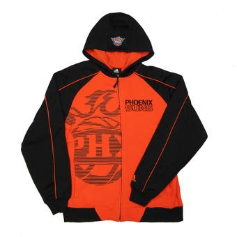 Phoenix Suns Adidas Orange & Black Full Zip Fleece Hoodie (Adult L)