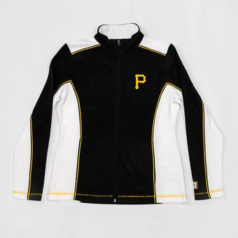 Pittsburgh Pirates Majestic Black Kiss The Batter Full Zip Jacket (Womens L)