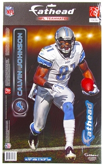 "Fathead Calvin Johnson Detroit LionsTeammate Player (Lot of 10) 9 1/2"" x 16 1/2"""