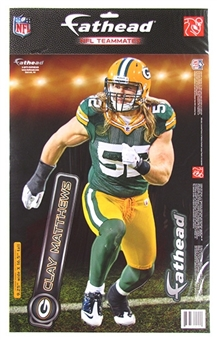 "Fathead Clay Matthews Green Bay Packers 2011 Teammate Wall Graphic 9"" X 17"""