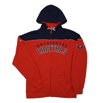 Washington Capitals Reebok Red Score Full Zip Fleece Hoodie