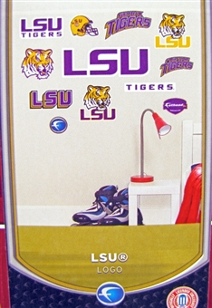 "Fathead LSU Tigers Junior Team Logo Set Wall Graphic 40"" x 27""  (Lot of 10)"