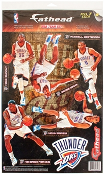 Fathead Oklahoma City Thunder Team Set Wall Graphic  (Lot of 10)