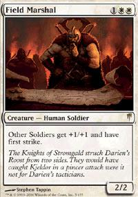 Magic the Gathering Coldsnap Single Field Marshal - SLIGHT PLAY (SP)