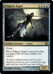 Magic the Gathering Alara Reborn Single Filigree Angel Foil