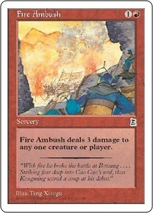 Magic the Gathering Portal 3: 3 Kingdoms Single Fire Ambush - NEAR MINT (NM)