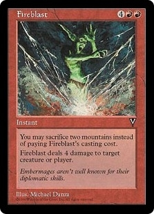Magic the Gathering Visions Single Fireblast UNPLAYED (NM/MT)