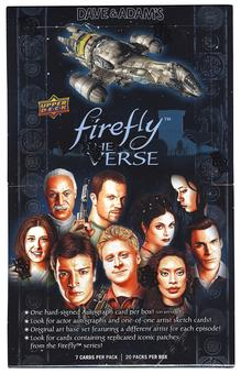 Firefly: The Verse Trading Cards Hobby Box (Upper Deck 2015)