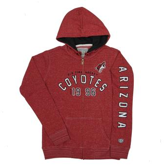 Arizona Coyotes Old Time Hockey Maroon Brittany Full Zip Fleece Hoodie (Womens XL)