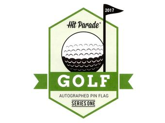 2017 Hit Parade Autographed Golf Pin Flag Series 1- Signed Arnold Palmer, Jack Nicklaus & Gary Player!!!