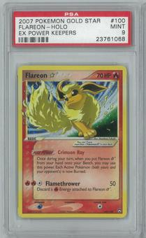 Pokemon EX Power Keepers Flareon * Gold Star 100/108 PSA 9