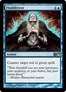 Magic the Gathering 2010 Single Flashfreeze FOIL