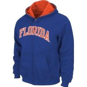 Florida Gators NCAA Genuine Stuff Blue Full Zip Fleece Hoodie (Size Large)