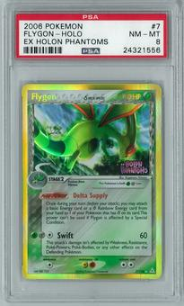 Pokemon EX Holon Phantoms Flygon Delta Species 7/110 Holo Rare PSA 8