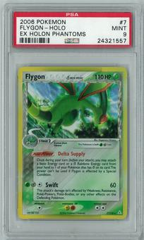 Pokemon EX Holon Phantoms Flygon Delta Species 7/110 Holo Rare PSA 9