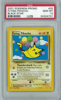 Pokemon Black Star Promo Flying Pikachu 25 PSA 10