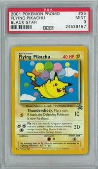Pokemon Black Star Promo Flying Pikachu 25 PSA 9