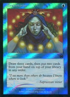 Magic the Gathering Mercadian Masques Single Brainstorm FOIL - MODERATE PLAY (MP)