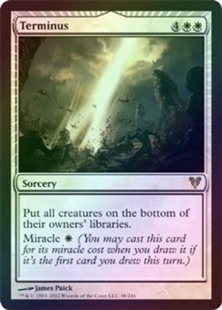 Magic the Gathering Avacyn Restored Single Terminus FOIL - SLIGHT PLAY (SP)