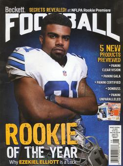 2016 Beckett Football Monthly Price Guide (#307 August) (Ezekiel Elliott)