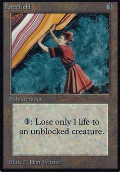 Magic the Gathering Alpha Single Forcefield - HEAVY PLAY (HP)