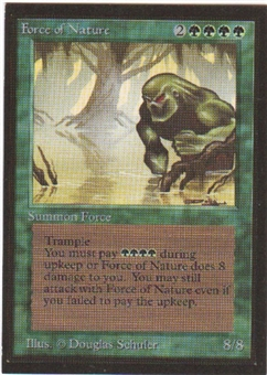 Magic the Gathering Beta CE Single Force of Nature - SLIGHT PLAY (SP)