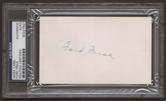 Ford Frick Autograph (Index Card) PSA/DNA Certified *7927