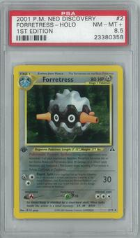 Pokemon Neo Discovery 1st Edition Forretress 2/75 PSA 8.5