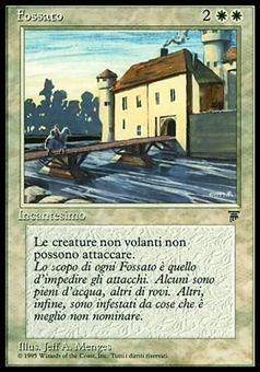 Magic the Gathering Legends Single Moat Italian - NEAR MINT (NM)