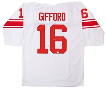 Frank Gifford Autographed New York Giants Jersey (JSA COA)