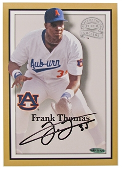 Frank Thomas Autographed University of Auburn 6x9 photo UDA COA