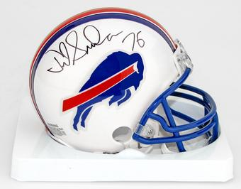 Fred Smerlas Autographed Buffalo Bills Football Mini Helmet