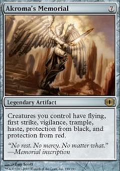 Magic the Gathering Future Sight Single Akroma's Memorial Foil